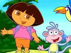 Dora Aventureira- festa do pijama  ( Desenhos animados )