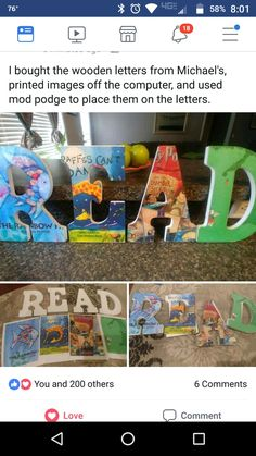 cute idea to spell child's name in a book-themed room (harry potter, peter pan, winnie the pooh, etc) or for the classroom Reading Corner Classroom, Classroom Setting, Classroom Setup, Classroom Design, Classroom Displays, Future Classroom, School Classroom, Classroom Organization, Diy Classroom Decorations