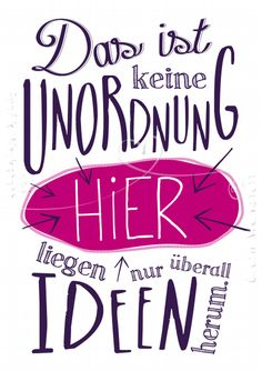 Unordnung - New Ideas The Words, Me Quotes, Funny Quotes, Sassy Quotes, Couple Quotes, German Quotes, Slogan, Hand Lettering, Quotations