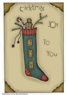 Joy Stocking Freebie colored in