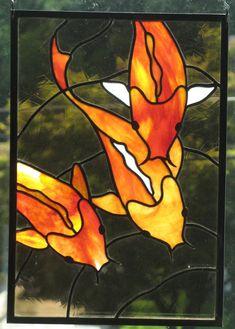 Stained Glass Koi Trio Panel by ~trilobiteglassworks on deviantART