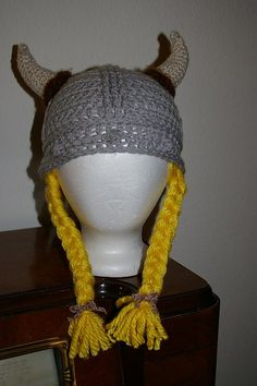 Ravelry: Viking Hat - Newborn through Adult Sizing! pattern by Tammy Harder. Perfect for Viking Dinners. Check Yes.