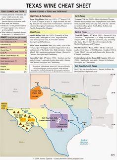 Texas wine region cheat sheet: Map by Clear Lake Wine Tasting #wine101 #map #USA