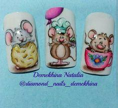 Animal Nail Designs, Animal Nail Art, Nail Art Designs, Rose Nail Art, Rose Nails, Flower Nails, Uñas One Stroke, Nail Drawing, Nail Art Techniques