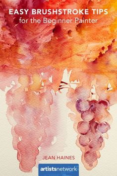 4 simple brushstroke tips for the beginner painter. #watercolor #watercolortips