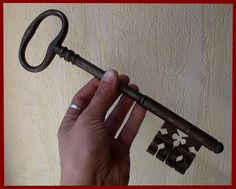 RestraintsBlog: Antique French huge wrought iron key