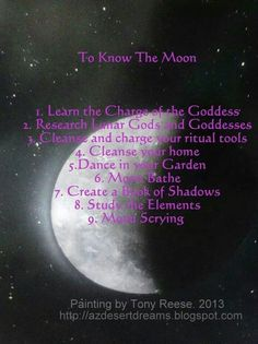 To know the Moon