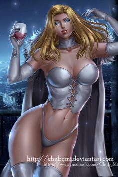 Emma Frost aka The White Queen. From The Marvel Comic Universe. Marvel Comic Universe, Comics Universe, Marvel Vs, Emma Frost, Marvel Heroines, Female Comic Characters, Pin Up, Man Character, Ecchi