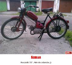 Komar Poland People, Old Motorcycles, Classic Bikes, Bicycle, Vehicles, Transport, Nostalgia, Vintage, Motorbikes