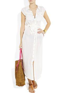 Charlie by Matthew Zink White Resort Maxi Dress on Net-a-Porter.com. $350.00