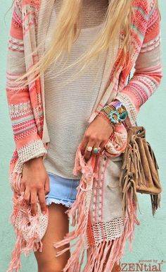 Refreshing color to try for your next boho look. | Bohemian Style