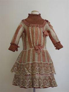 little girls bustle dress | Girls dress, ca 1880-1890
