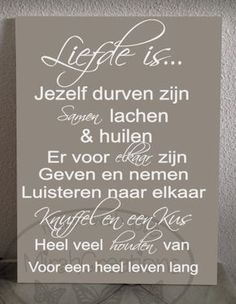 Liefde is Leuk tekstbord te koop bij www.mirahcreations.nl Cheer Up Quotes, Scan And Cut, Love Notes, Carpe Diem, Slogan, Quote Of The Day, Wise Words, Letter Board, First Love