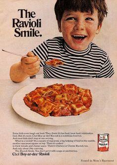 Cute pasta advertisement