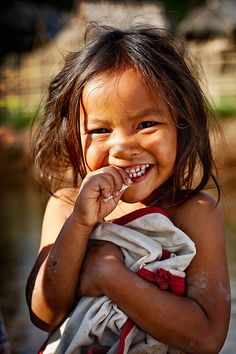 Laos ~~ What an absolutely adorable little one:))