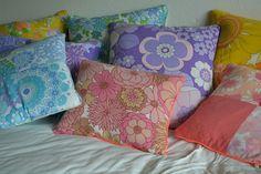 vintage sheet cushions