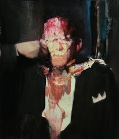 Adrian Ghenie- Pie Fight Study 4, 2008, oil on canvas, 70 x 60 cm