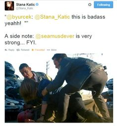 Seamus Dever is very strong.