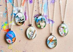 Spring is Here! – Flora & Fauna colorful totem animal necklace for the fresh, warm weather