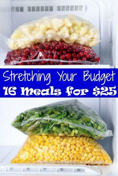 Stretching Your Budget –  Grocery budget tight? These 16 Meals for $25.00 are sure to help you stretch your budget a little bit more each month!