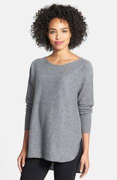 Halogen® Cashmere Shirttail Sweater | nordstrom