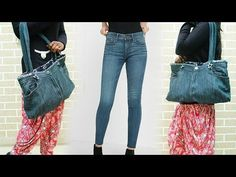 (24) How To Make Hand Bag From Old Jeans - DIY | Refashion Clothes - YouTube