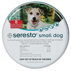 Seresto Dog Flea and Tick Collar SMALL DOGS UNDER 18LBS by DavesPestDefense -- See this great product.Note:It is affiliate link to Amazon.