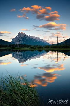 Sunset at Vermillion Lakes. Canadian Rockies. by Viktoria Haack on 500px