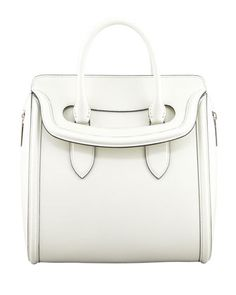 Heroine+Flap-Top+Tote+Bag,+Ivory+by+Alexander+McQueen+at+Bergdorf+Goodman.