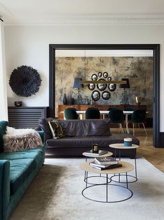 If you even paint the walls and the floor of a typical Parisian apartment just white, you already get a beautiful space - French architecture itself is ✌Pufikhomes - source of home inspiration Parisian Apartment, Paris Apartments, Loft Industrial, Luxury Dining Room, Dark Interiors, Green Rooms, Interior Design Companies, Luxurious Bedrooms, Luxury Furniture