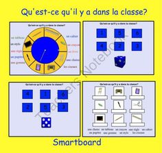 This is a Smart Notebook 11 file. You must have Smart Notebook software to… French Teacher, Teaching French, School Themes, School Ideas, Promethean Board, Core French, French Education, French Classroom, French Resources