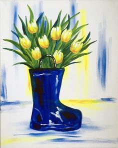 Rain Boot Bouquet at Mama's Boy - Paint Nite Events near South Norwalk, CT>
