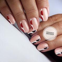 Acrylic Nail Designs, Nail Art Designs, Acrylic Nails, Nails Design, Trendy Nails, Cute Nails, Funky Nail Art, Geometric Nail, Minimalist Nails