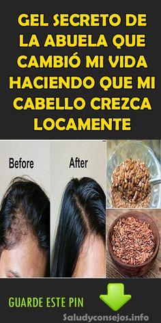 GEL SECRETO DE LA ABUELA QUE CAMBIÓ MI VIDA HACIENDO QUE MI CABELLO CREZCA LOCAMENTE #GEL #SECRETO #ABUELA #CABELLO #CREZCA  #BIENESTAR #REMEDIOS #SALUD Diy Beauty, Beauty Hacks, Haircut And Color, Makeup Tips, Healthy Life, Your Hair, Shampoo, Remedies, Hair Cuts