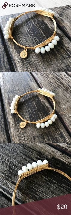 """Bourbon and Boweties 'Millie' Crystal Bracelet Bourbon and Boweties 'Millie' bracelet featuring iridescent white crystals in handcrafted gold-plated wire. New without tags, never worn.   - 7 1/2"""" circumference Bourbon and Bowties Jewelry Bracelets"""