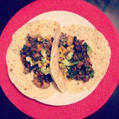 Spicy Potato 'n Black Bean Burritos // Oh She Glows