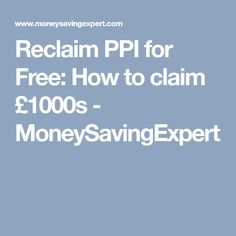 Reclaim ppi for free with advice from martin lewis ppi claims reclaim ppi for free with advice from martin lewis ppi claims pinterest money saving expert solutioingenieria Gallery