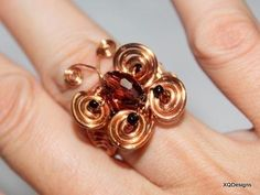 Woven Butterfly Ring Wirework Tutorial