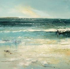 Paintings of Claire Wiltsher Claire Wiltsher is an award winning landscape painter born 1962 in Newport, Wales, UK. She has a Masters degree in Fine Art, and has exhibited in solo shows throughout Britain as well as been a finalist in many. Seascape Paintings, Oil Painting Abstract, Landscape Art, Landscape Paintings, Sea Art, Coastal Art, Ocean, Fine Art, Newport Wales