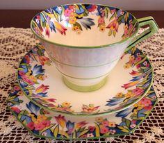 C1930 Pretty Paragon Art Deco Floral Trio