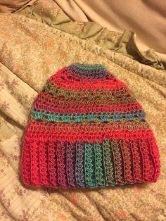 Crocheted ponytail hat bun hat by TheHookerandtheOwl on Etsy