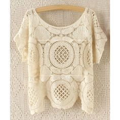 Wholesale Fashionable Short Sleeve Crochet Hollow Out Knitting Cover-Up For Women Only $3.56 Drop Shipping   TrendsGal.com