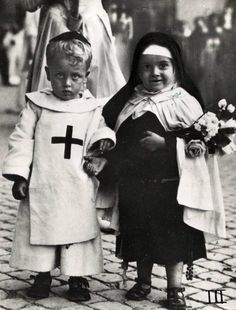 Italy 1929. All Saints Day costumes.