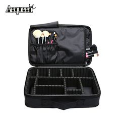 Women Makeup Bag High Quality Professional Organizer Makeup Brush Bag Case Cosmetic Bag Large Capacity Storage Bag Art Tool Box