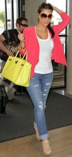 #pop colors...summer time! Kim kardashian