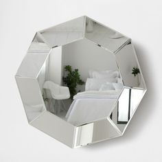 Zara Home New Collection Zara Home, Octagon Mirror, Fancy Mirrors, Window Display Retail, Mirror Inspiration, Luxury Mirror, Bedroom False Ceiling Design, Geometric Decor, Home Decor Ideas