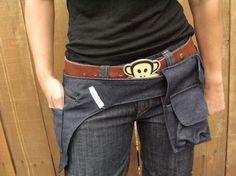 Bolsa de cadera del dril de algodón con bolsa del por EmmaPintado, $25.00