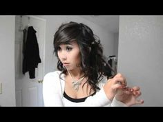 Prom Series: Curly Hair Updo Tutorial