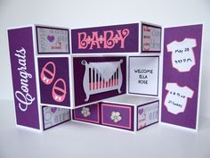 Tri-Shutter Welcome Baby card