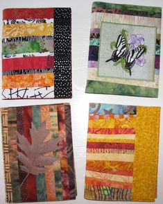 Exuberant Color: Quilted Journal Covers